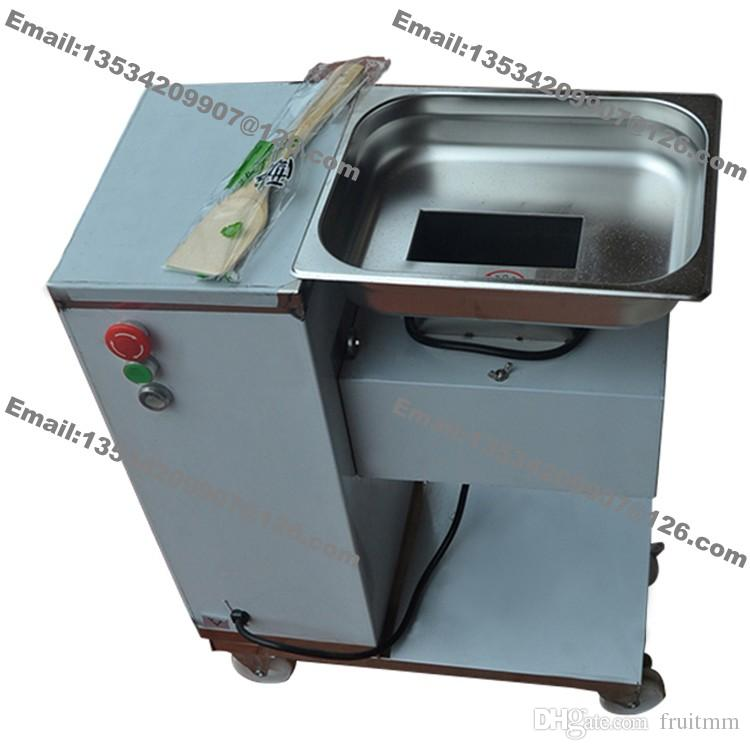 500KG/H Stainless Steel 2.5mm-25mm Customized Blade 110v 220v Electric Commercial Fresh Meat Slicer Cutter Processing Machine