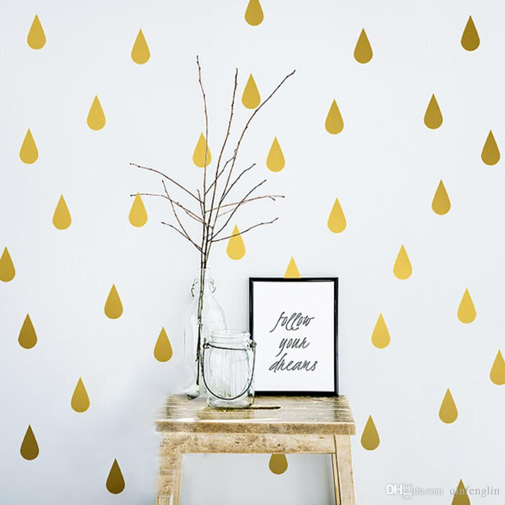 Perfect Waterdrop Vinyl Wall Decals Diy Decorative Childrenu0027S Gold/Black/White Wall  Sticker Wall Decal Perfect Drop Custom Wall Decals Custom Wall Sticker From  ...