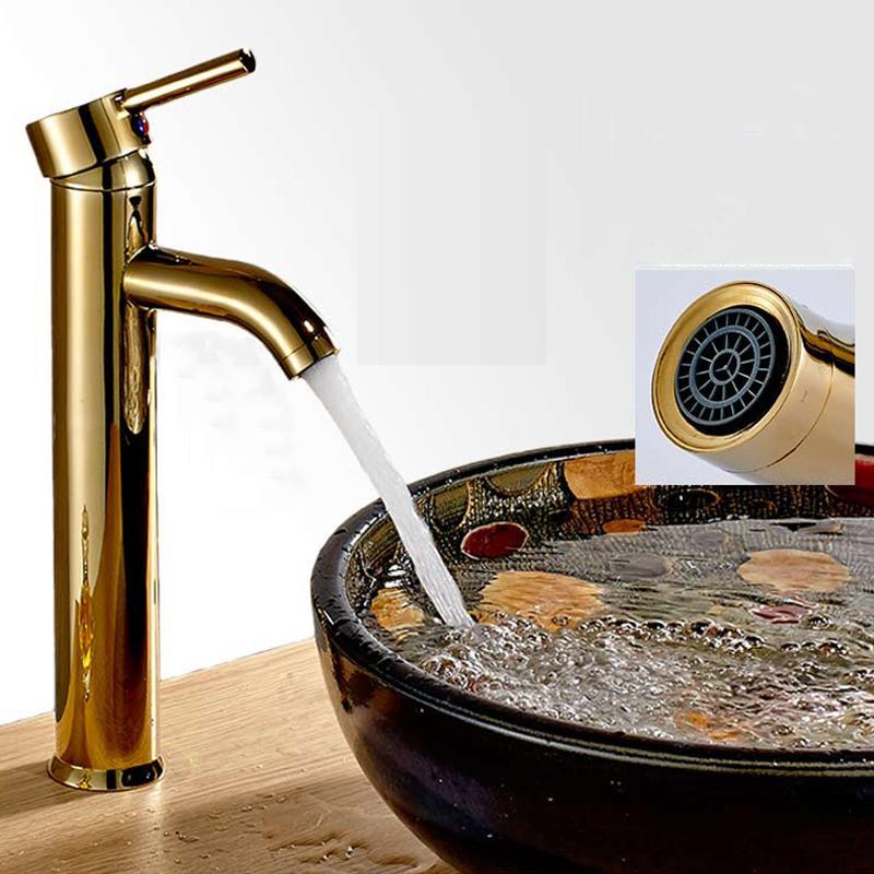 2018 Antique Bathroom Sink Faucet Single Hole Mixer Taps Single ...