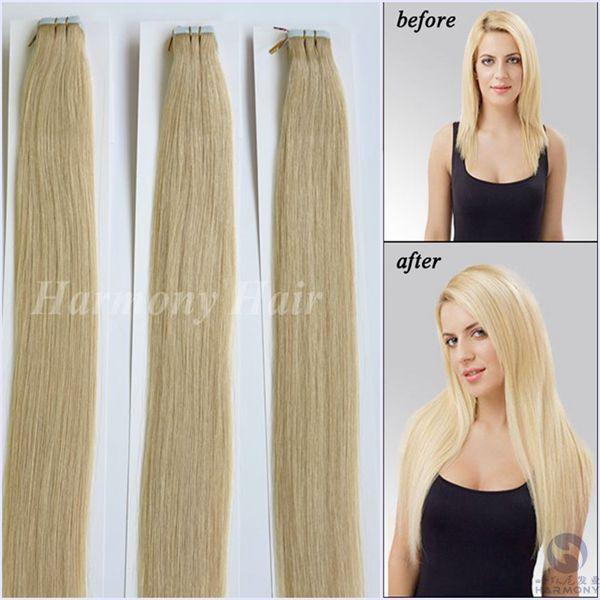 Cheap Tape Hair Extensions Brazilian Straight Pu Skin Weft Hair 16