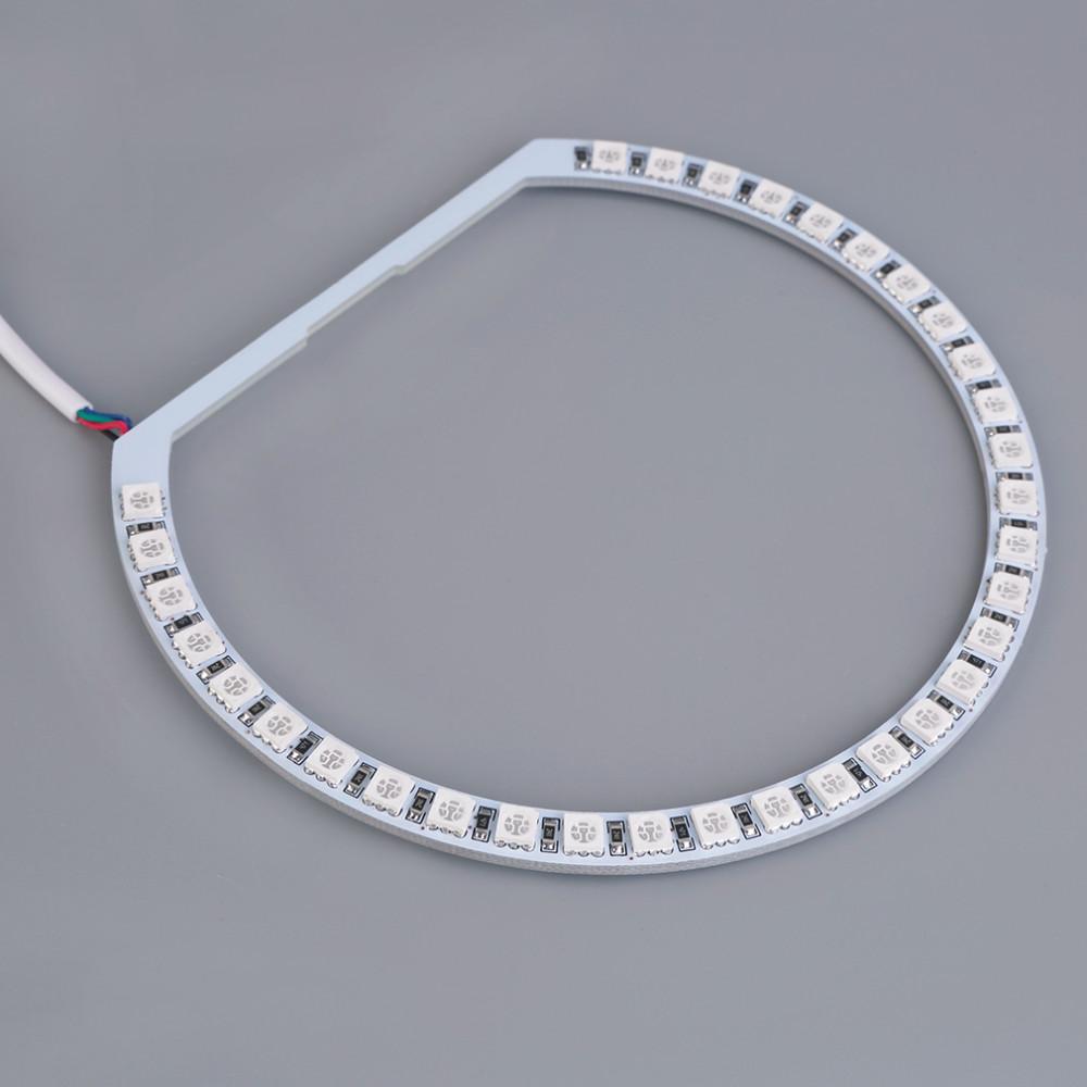 E36 e38 e39 e46 rgb 4 * 131mm mehrfarbige 5050 flash led auto engel augen scheinwerfer ringe zyklus runde kit für bmw heißer verkauf
