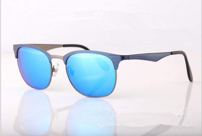 24a2bb9941 Brand Designer Mirror Sunglasses Vintage Flat Metal Frame Glass Lenses Men  Women Fashion Sun Glasses UV400 With Original Case Mirror Sunglasses Brand  ...