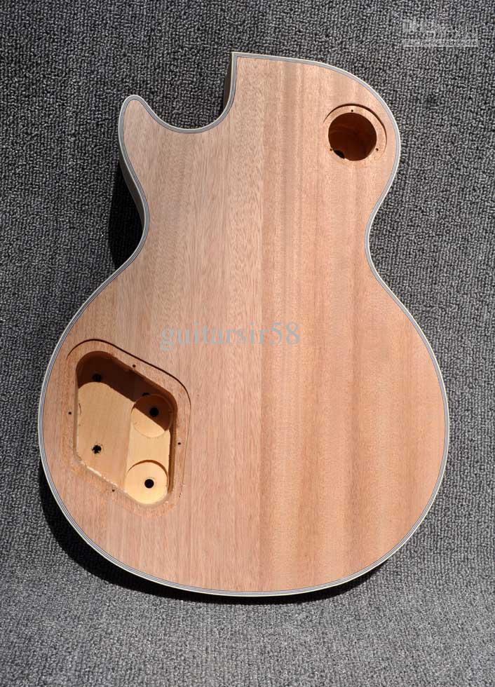 2012 لم تنته عدة الغيتار الكهربائي مع ملتهب القيقب الأعلى DIY الغيتار لأسلوب مخصص للتسوق