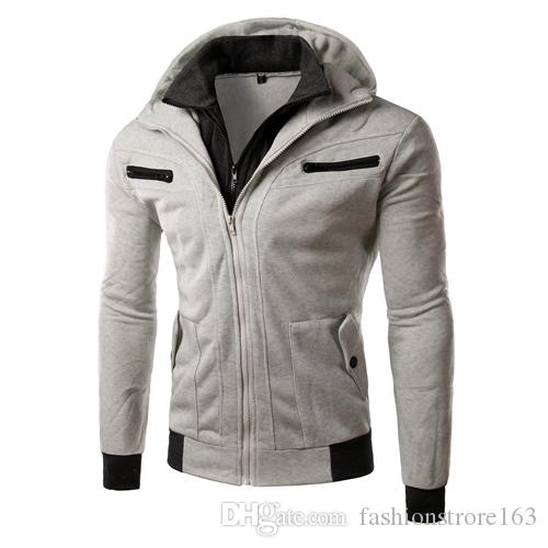 Christmas gift for men's classic jackets two false dual- collar self-cultivation sweater 1835