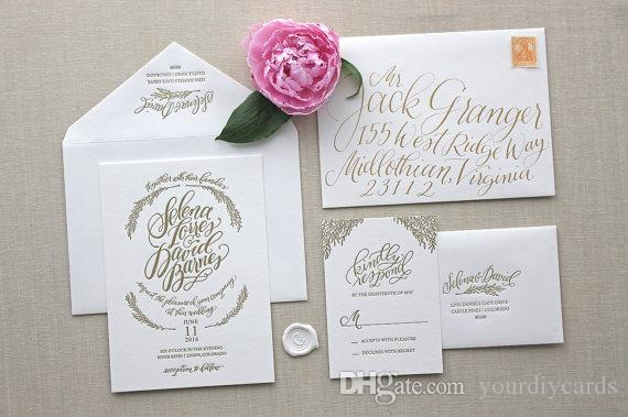 Made In China 2016 Letterpress Wedding Invitation Fancy Hot – Classic Wedding Invitations