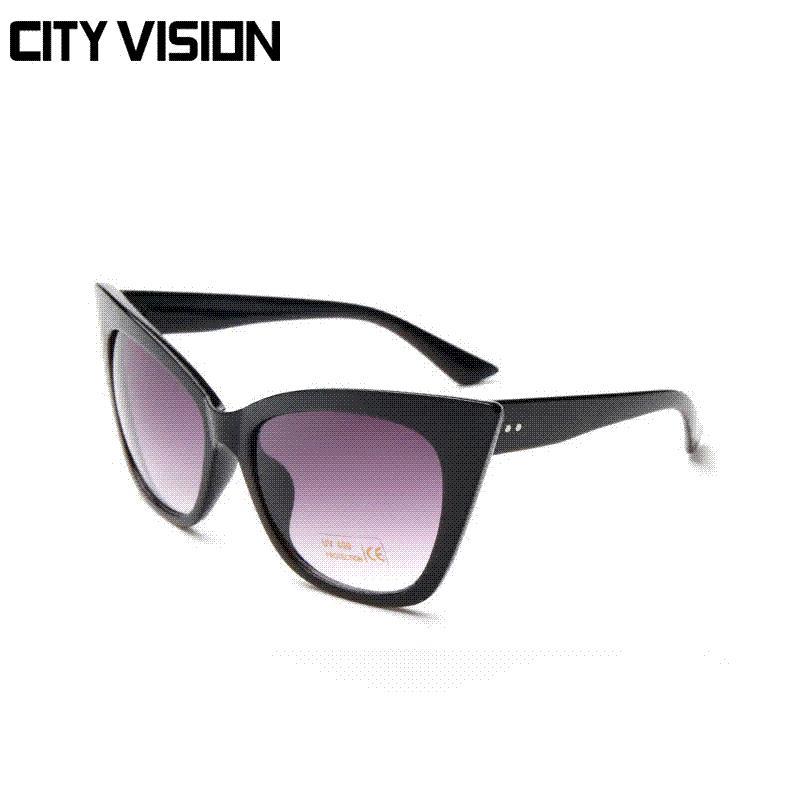 2879f6be7 Compre 2016 Novos Do Olho De Gato Óculos De Sol Mulheres Uv400 Shades  Feminino Pontos Sol Preto Óculos Outdoor Marca Designer Eyewear Oculos De  Sol De ...