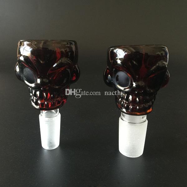 Più nuovo Skull Bong Bowl 14mm 18mm Maschio Joint cranio Ciotole di vetro il tubo di acqua Bong di fumo