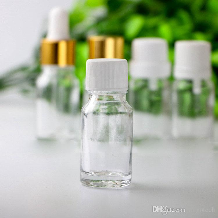 Popular Selling 10ml Clear Glass Dropper Bottles with Pipette Cap Tamper Cap Screw Cap Empty 10 ml Esssentail Oil Bottles Liquid Vials Jars