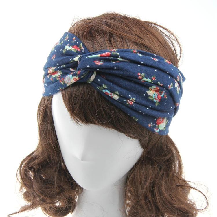 2019 Headbands For Women Flower Headwrap Turban Headband Knot Twisted Head  Band Hair Bands Girls Sport Running Yoga Hairband Hair Accessories From ... bf76c2a83bc