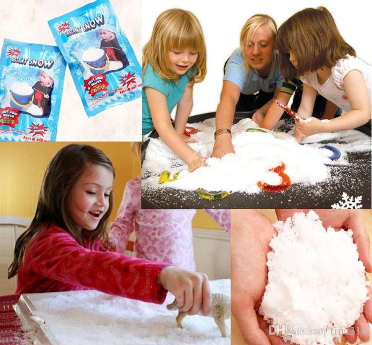 Christmas Decorations Instant Snow Magic Prop DIY Instant Artificial Snow Powder Simulation Fake Snow For Night Party decorate 4252