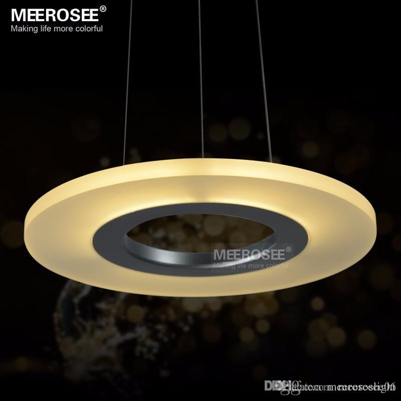 Acrylic round ring lighting fixtures led pendant lights for bedroom bathroom kitchen suspension led lustre brass ceiling lights small pendant lights from
