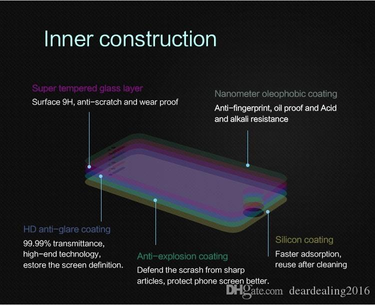 0,3 mm 2,5D bordo curvo antideflagrante Premium Sony Xperia Z2 Z1 Z3 Z4 vetro temperato compatto Z5 Screen Protector