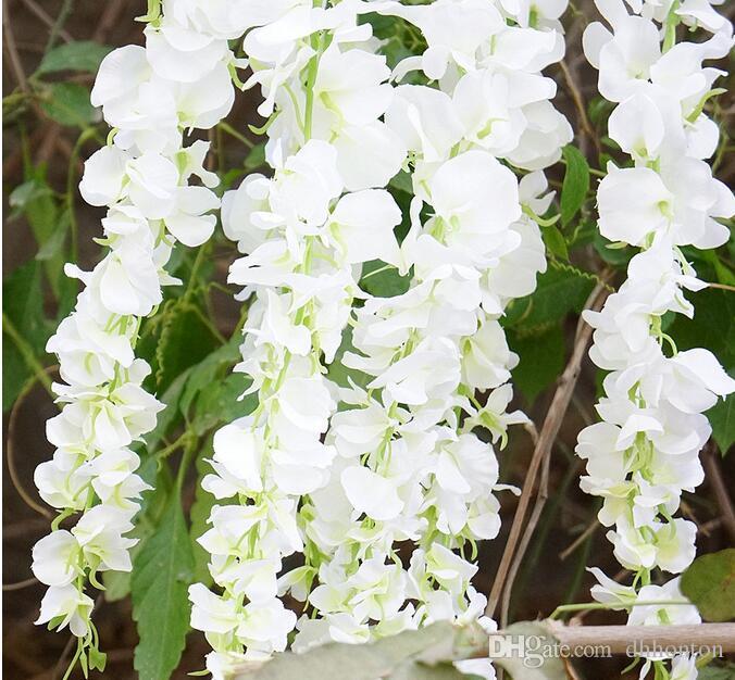 120 CM de largo elegante flor de seda artificial Wisteria vid de la rota para centros de mesa de la boda decoraciones de la etapa guirnalda hogar ornamento HW008