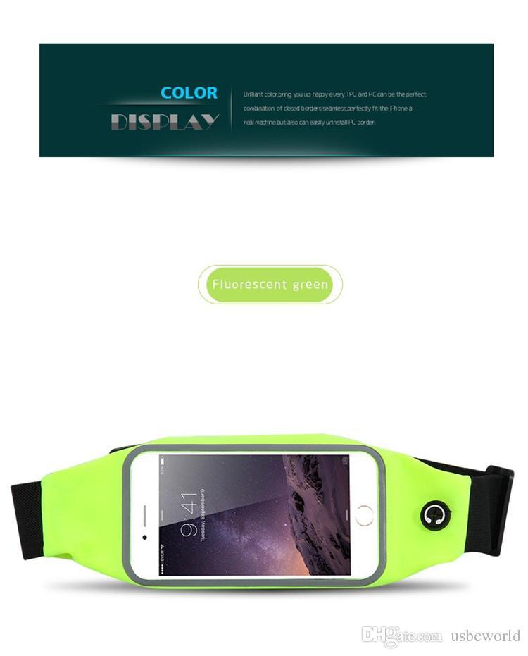 Deportes que ejecutan los estuches de cintura para Samsung Galaxy S7 Edge Note Series Iphone SE / 5S 6 6Plus