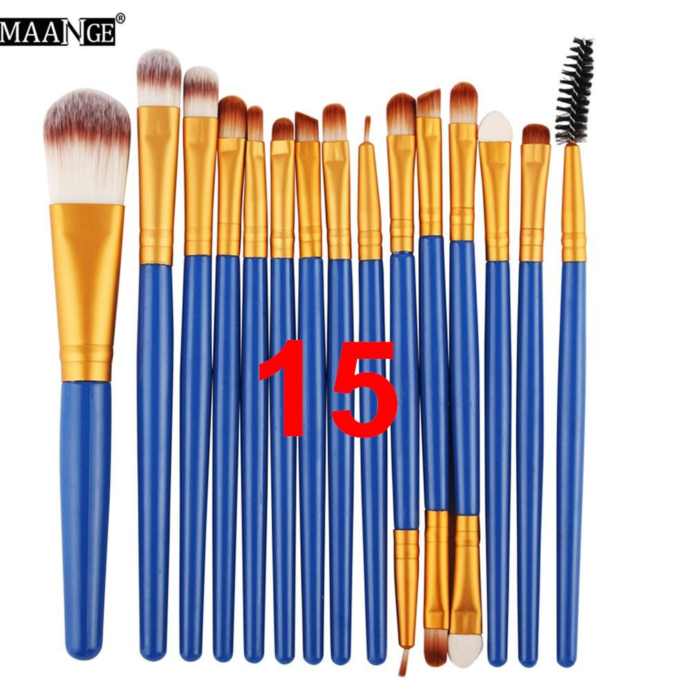 MAANGE Pro Makeup Brushes Kit Eyeshadow Brow Eyeliner Eye Lashes Lip Foundation Power Cosmetic Make Up Brush Beauty Blending Tool