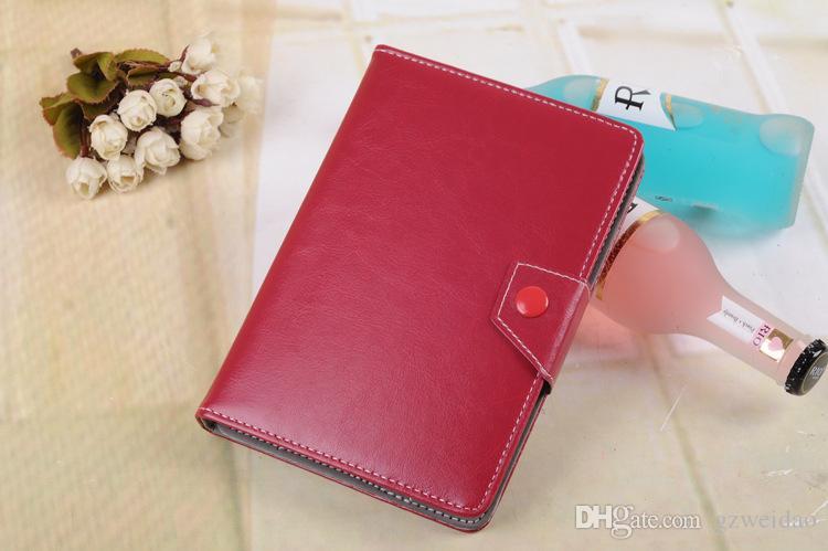 Evrensel Ayarlanabilir PU Deri Kılıfları Kapak Standı 7 8 9 10 inç Tablet PC MID PSP iPad Tablet için Kılıf Pad Kılıfları