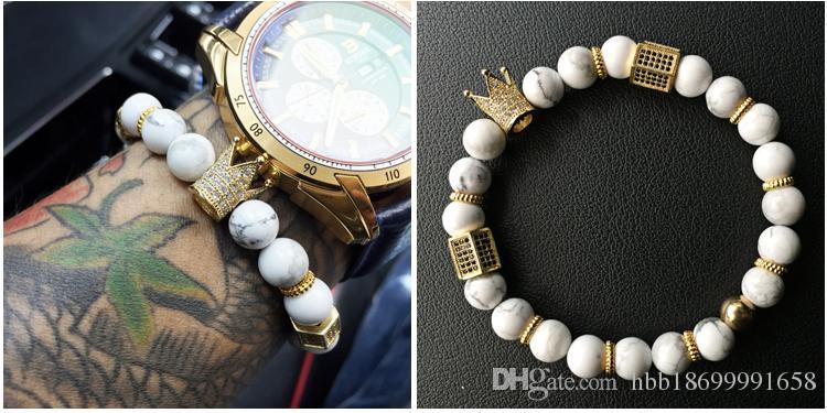 Royal Natural Matte Agate stone Beaded Handmade Healing Energy Wrist Bracelet for Men and Women Medium