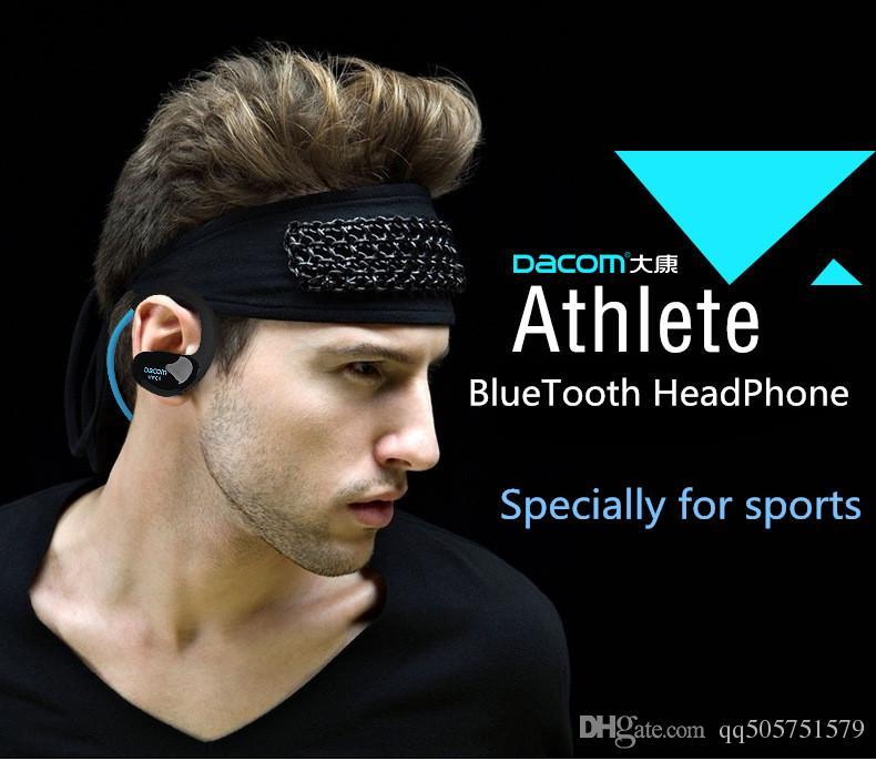 Prix de gros Dacom Cheetah 4.1 Bluetooth Casque Casque Sans Fil Casque Microphone AptX Sport Écouteur pour iPhone Android Téléphone