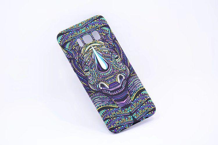3D ملك الغابة حالة الهاتف للحصول على حالة سامسونج S8 S8 زائد مع حالة الأسد الملونة نمط الاستوائية