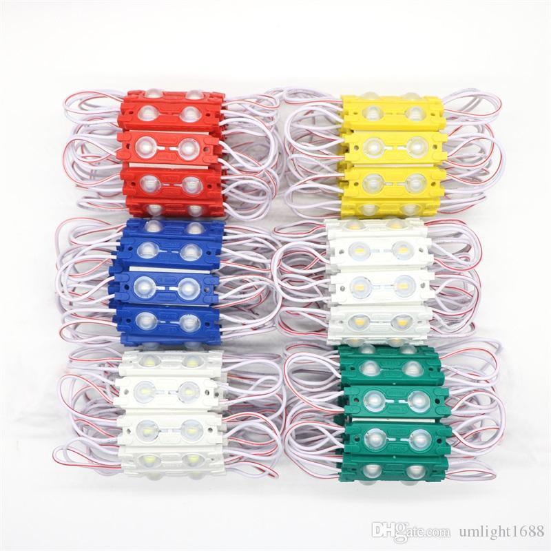 1000X ABS Renk Kabuk Sabit Akım SMD 5730 2 Leds 1.2 W Enjeksiyon LED Modülü Lens 160 Derece, 12 V Su Geçirmez Reklam Işık