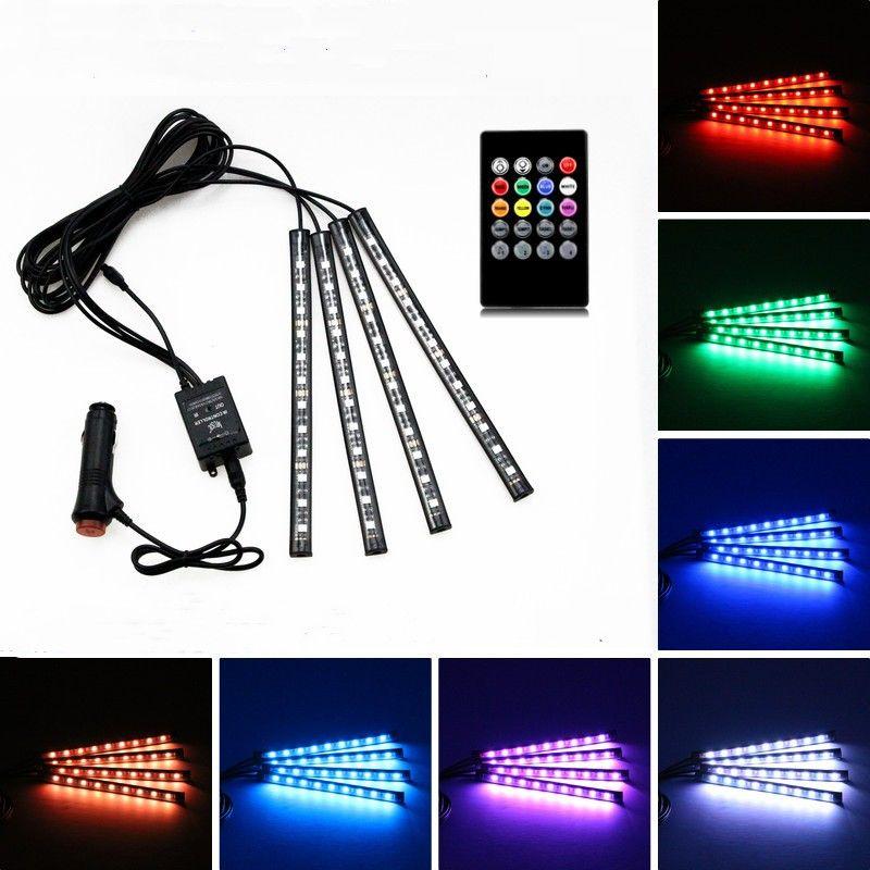Beleuchtung Auto Farben | Grosshandel 4 In 1 Auto Innerhalb Der Atmosphare Lampe 48 Led Innen