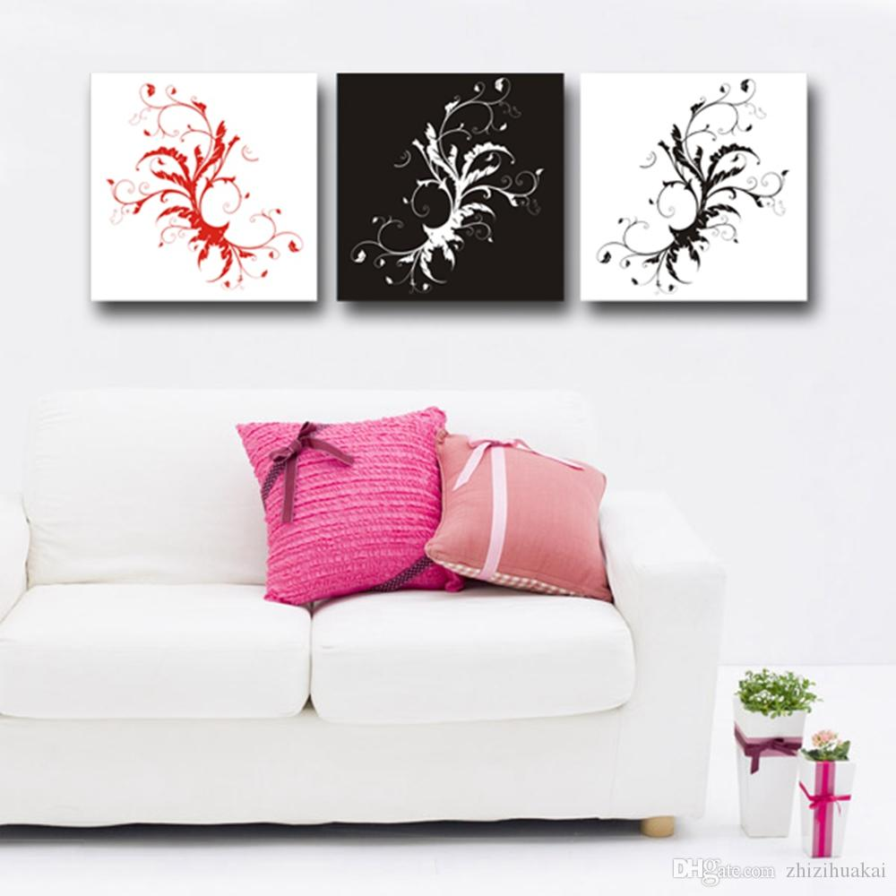 Home decoration unframed picture Canvas Prints Purple flowers Morning glory Abstract flowers girl peony swan
