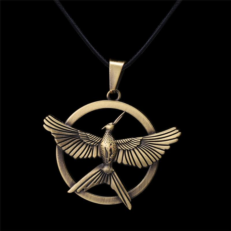 Wholesale movie jewelry hunger games mockingjay spark bird necklaces wholesale movie jewelry hunger games mockingjay spark bird necklaces alloy bird mockingjay symbol necklace for men womem hunger game cosplay jewelry long aloadofball Images