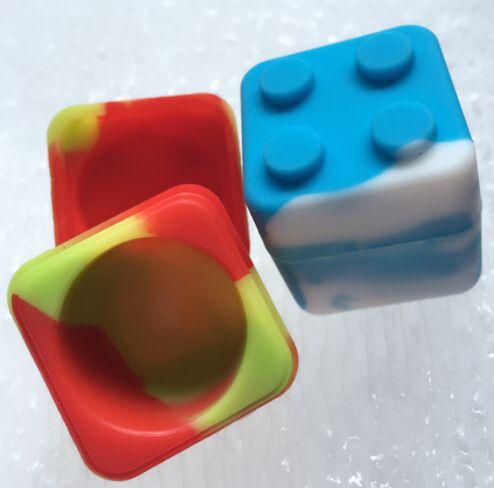HOT Silicone Dab Jar Contenedor apilable Silicone Non stick Cubo Contenedor de silicona Dab Wax Contenedor de aceite Dab Wax BHO Contenedor para Wax