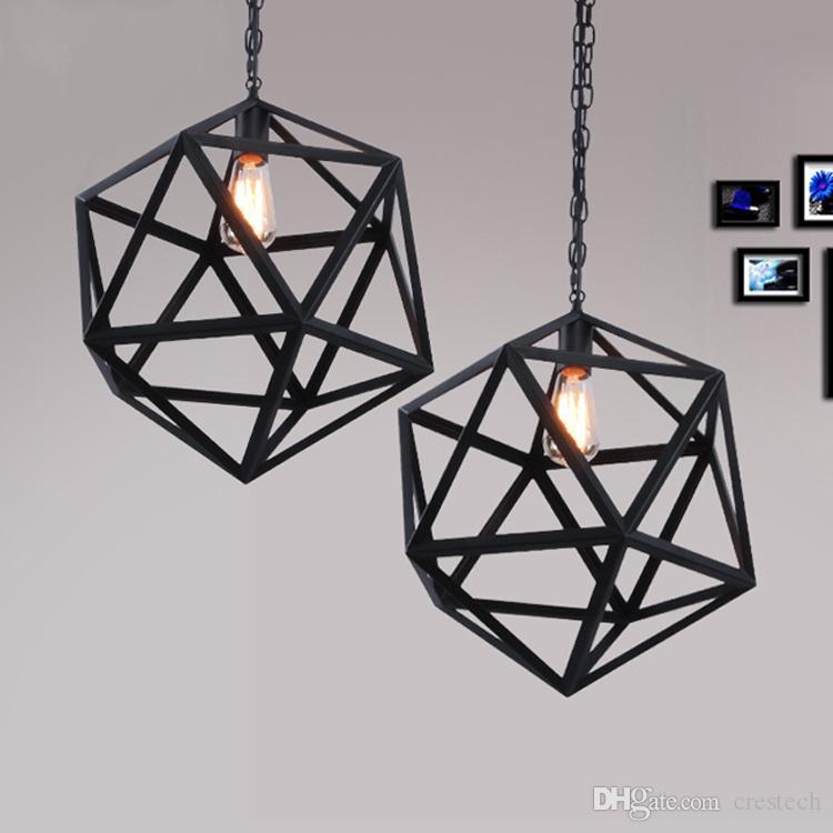 Edison industrial Lámpara de pared colgante comedor lámparas led lámparas minimalistas Colgantes Lámparas de jaula estilo art déco de gran tamaño Guardia de metal