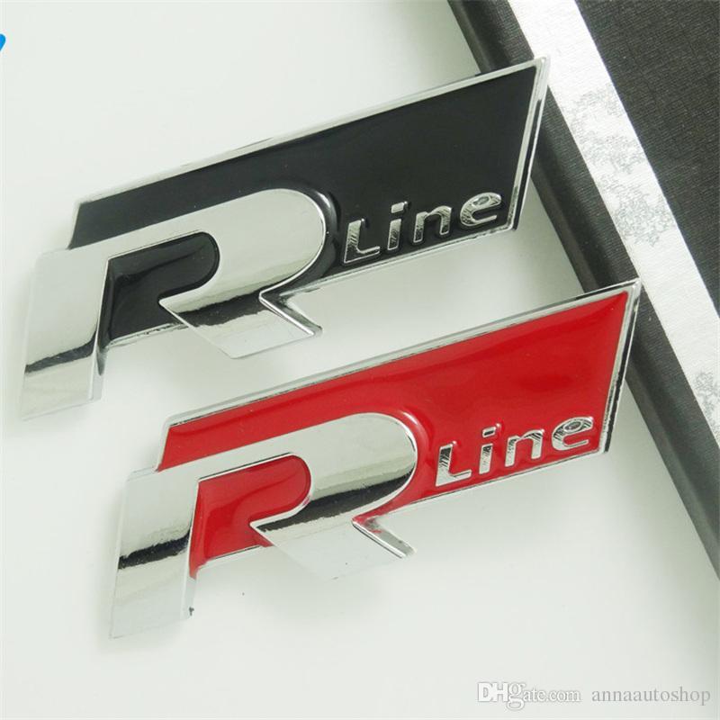 Speacial Rline Emblem Car Decals for VW Set 3D Metal Car Badge Emblem Car Stickers