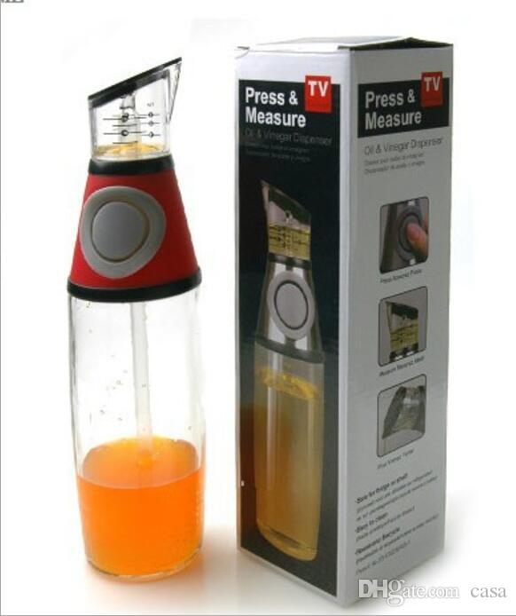 Practical Metering bottle pressing type quantitative scale health pot seal oil measure bottle kitchen tools