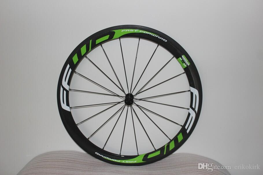 carbon wheels 3K Green FFWD F5R 50mm clincher Tubular bicycle wheels 700c carbon fiber road bike racing wheelset
