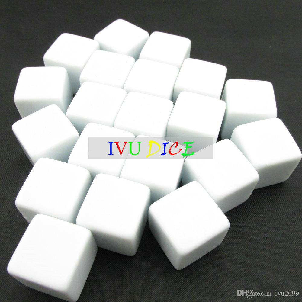 20pcs 18MM teaching blank dice white clear special game party machine Children dices bosons Free Shipping IVU