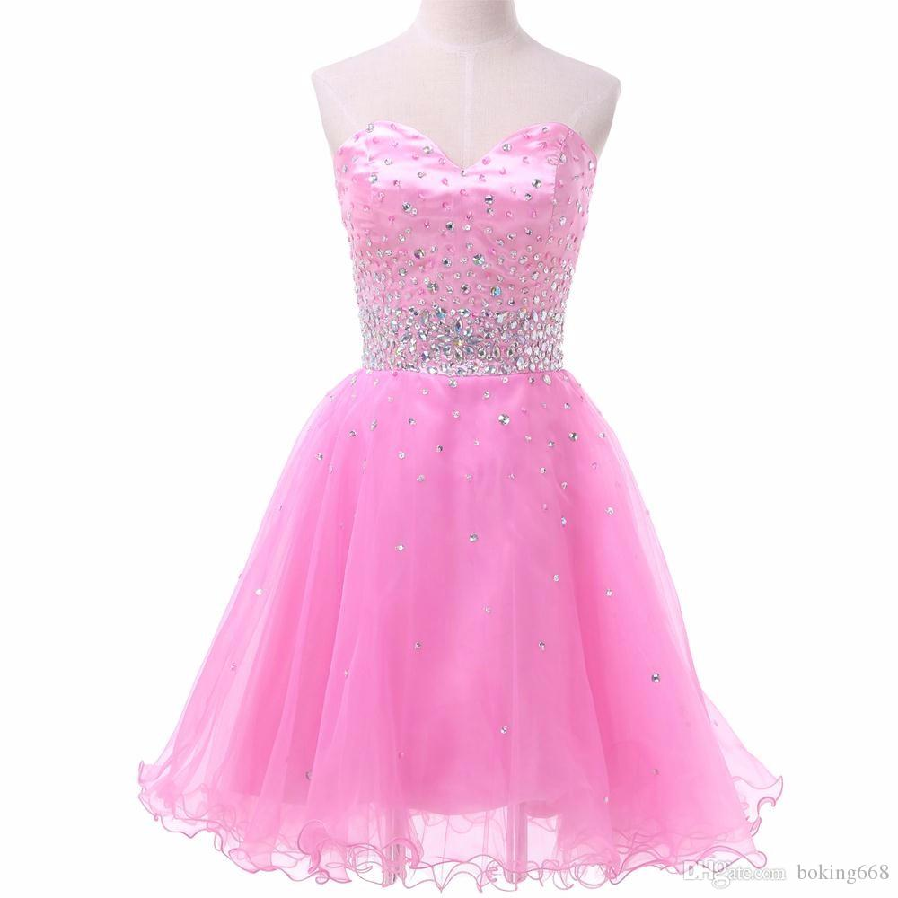 Robe Pink Cocktail Dresses 2016 Lace Sequined Sexy Chiffon Backless ...