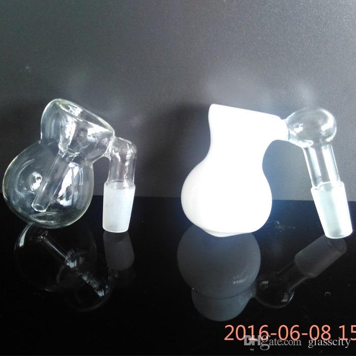 도매 2 색상 호리병박 디자인 유리 그릇 재 포수 Bubbler 여과기 14mm 18mm 조인트 크기 필터 funstion 파이프 hookahs에 대한 모듬