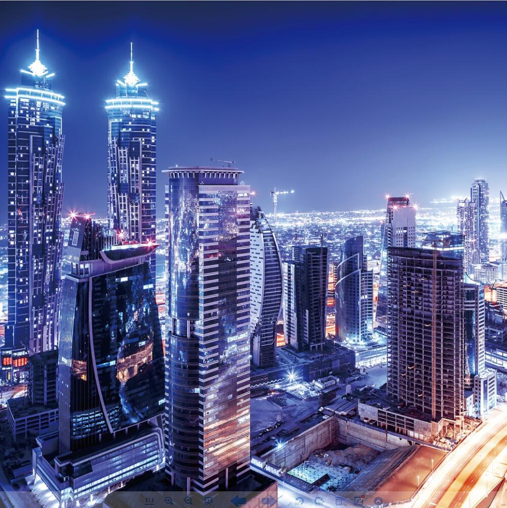 Custom Photo Silk Wallpaper For Wall 3 D Living Room TV Background Covering Dubai Night View Mural