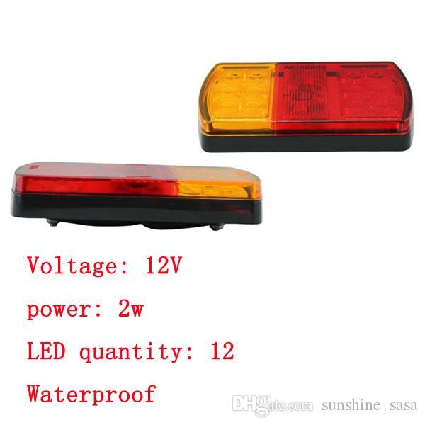 2x 높은 품질 12V LED 꼬리 빛 후면 브레이크 stope 폭스 바겐 표시기 트레일러 램프 키트 부품 교체 자동 버스 RV 보트 견인 트럭 견인