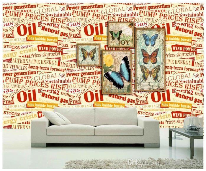 High end Özel 3d fotoğraf duvar kağıdı duvar resimleri duvar kağıdı İngilizce alfabe kelebek 3d oturma odası duvar kağıdı arka plan duvar ev dekor