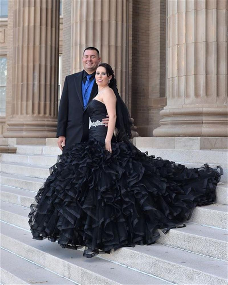 Gothic Wedding Gown: 2016 Custom Gothic Ball Gown Wedding Dresses Plus Size