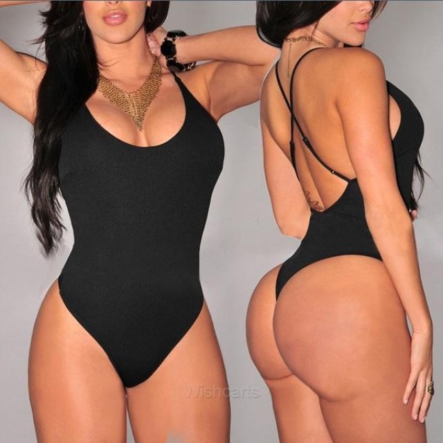discount 2016 thong one piece bandage swimwear women plus size