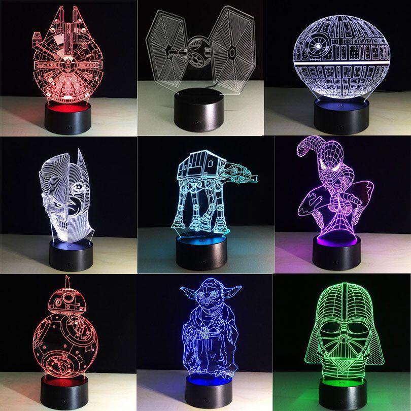 Grosshandel Star Wars Fuhrte Lampe Bb8 3d Bulbing Licht Kreative