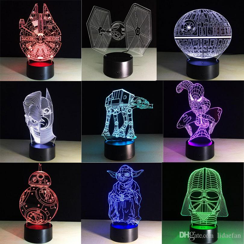 2019 Star Wars Led Lamp Bb8 3d Bulbing Light Creative