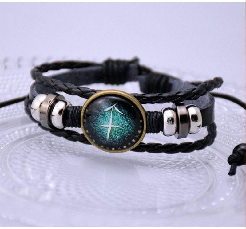 Twelve stars bracelet jewelry Europe and the United States hand beads jewelry diy constellation moonlight gem foreign trade sources