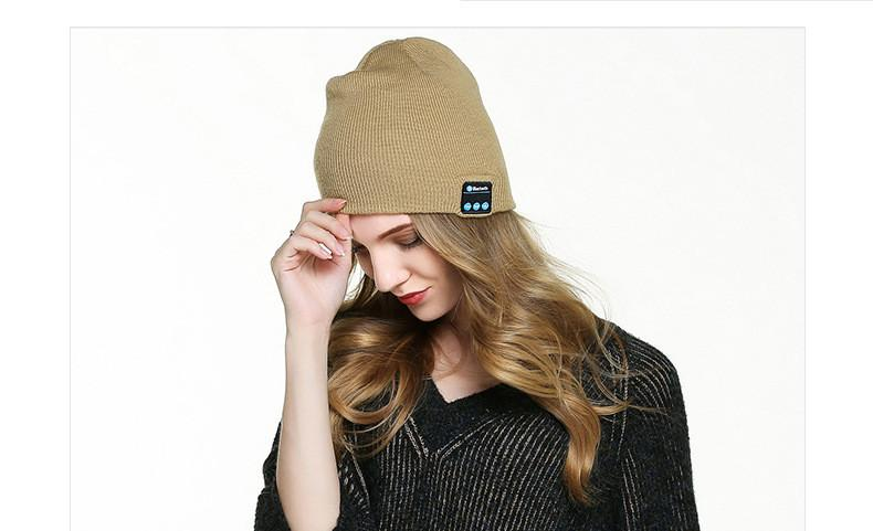 Atacado New Fashion Beanie Cap Hat Sem Fio Bluetooth Fone de Ouvido fone de Ouvido Inteligente fone de ouvido Speaker Mic Inverno Esporte Ao Ar Livre Música Estéreo chapéu