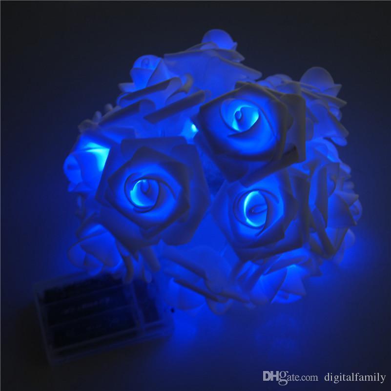20 x LED Novelty Rose Flower Fairy String Lights Wedding Garden Party Christmas Decoration Night Light Nightlight