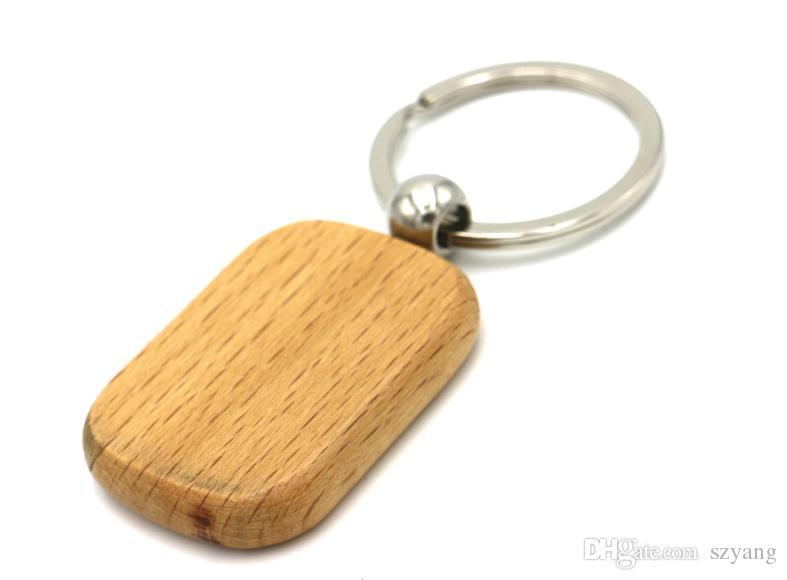 DIY chaveiro de madeira Em Branco chaveiro pingente de madeira personalizado melhor presente para amigos graduação 6 estilos logotipo personalizado SN