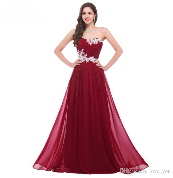 Entrega rápida Bastante por encargo vestidos largos de dama de honor apliques rebordear lentejuelas piso de longitud cariño vestido de fiesta