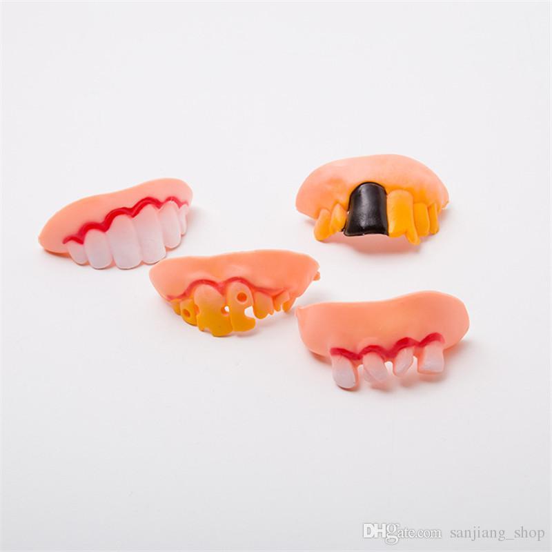 Dia das bruxas Prótese Stephen King É Engraçado Truques Propriedade Do Partido Do Jogo Brinquedo Do Dia Das Bruxas Prótese Falso Dentes Podres Modelo Brincadeira Brinquedos 2017