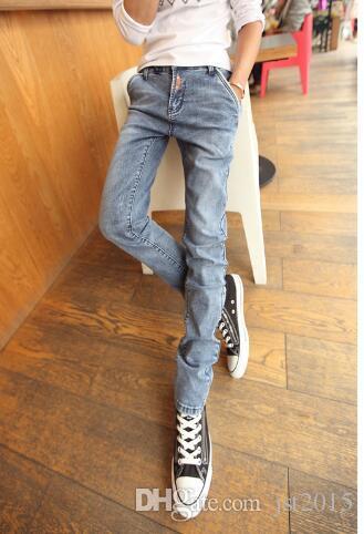 الجملة ، أندر جينز ربيع جديد وصول رجل زيبر نمط جينز نحيل الجينز الحريم السراويل شخصية نحيل الجينز الرجال