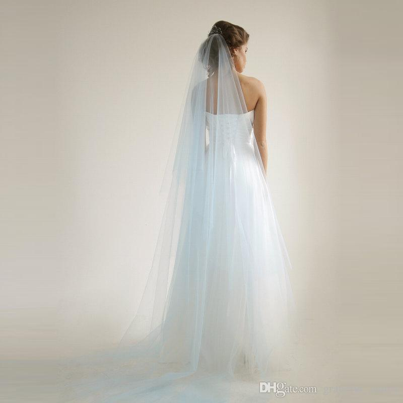 Light Blue 118 Train Cathedral Bridal
